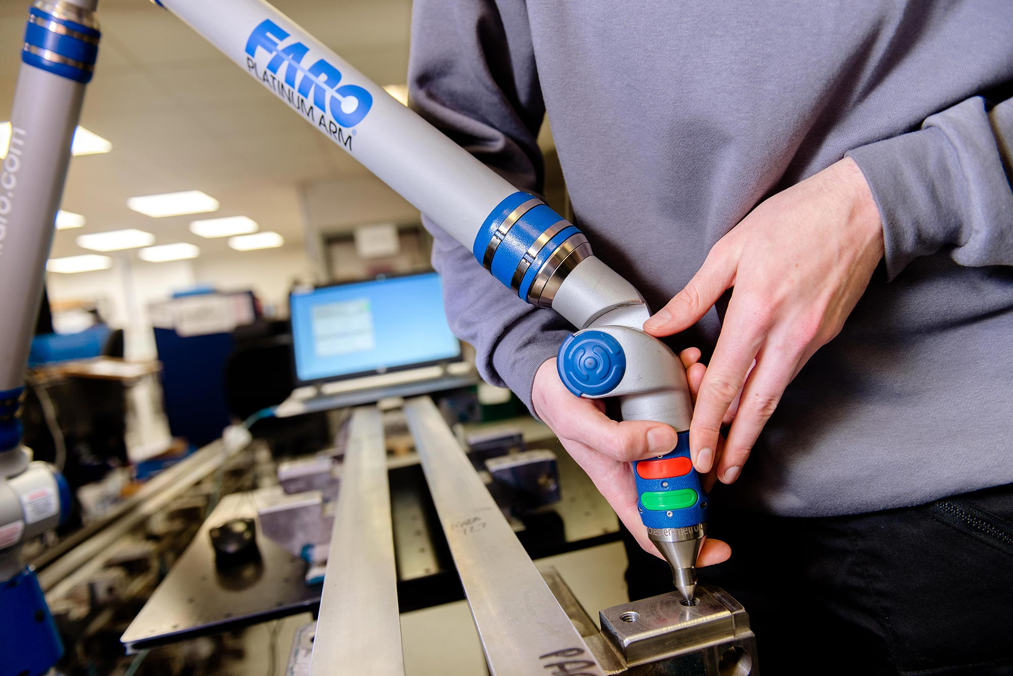 Faro Platinum Arm for component measurement
